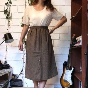 Vintage Woolblend Midi skirt